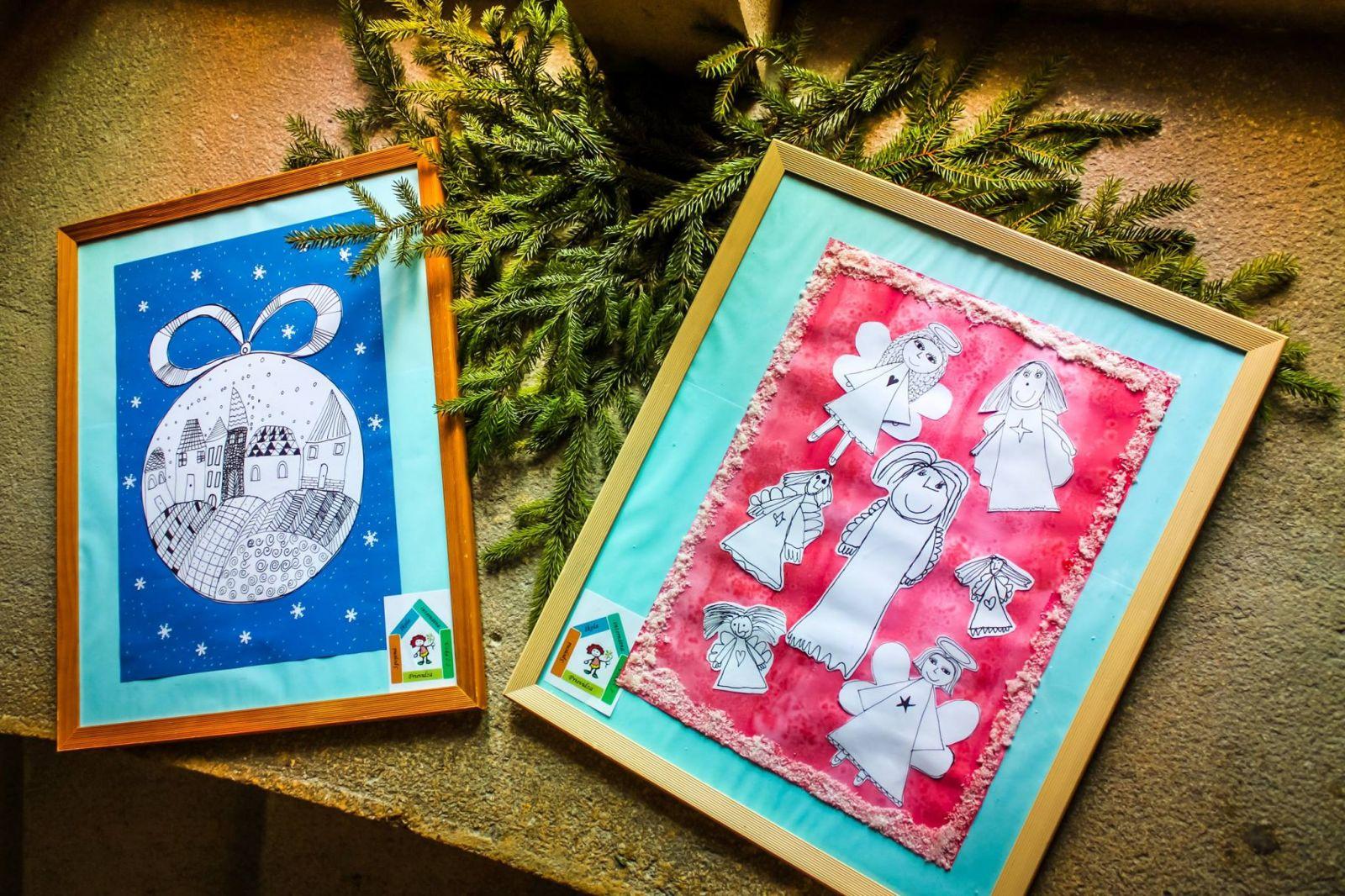 Tí pod vedením pedagógov pripravili bohatú kolekciu obrazov a vianočných dekorácií, ktorými prispejú k tohtoročnej sviatočnej výzdobe zámku.