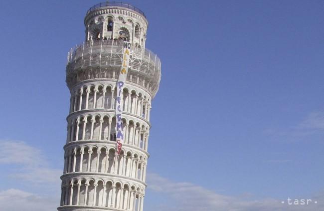 Šikmá veža v Pise, archívna snímka.