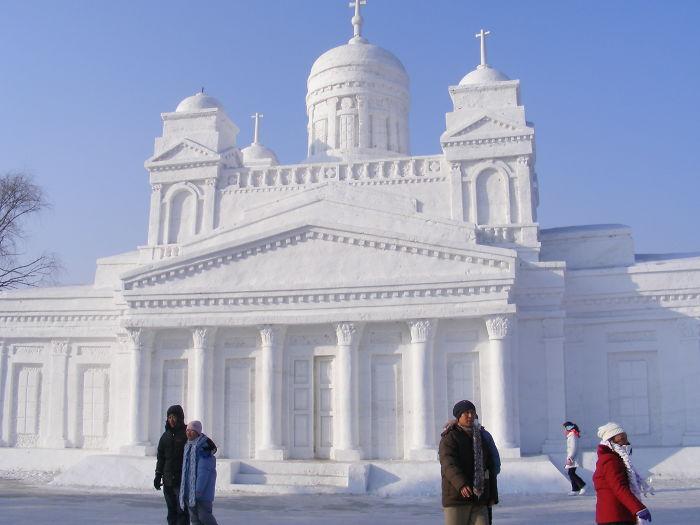 Úžasné fotografie z festivalu Harbin Snow and Ice Festival v Číne