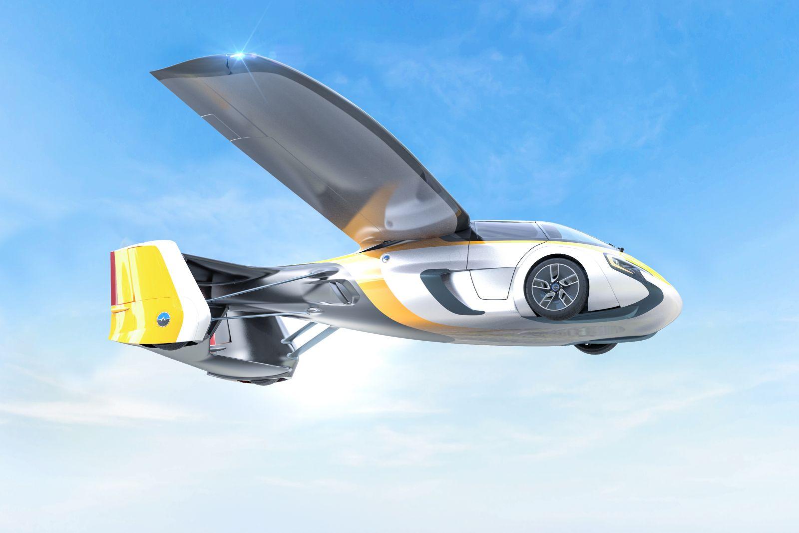 AeroMobil bol na výstave v Číne jednou z najväčších hviezd a predstavil nový dizajn exkluzívne pre čínsky trh