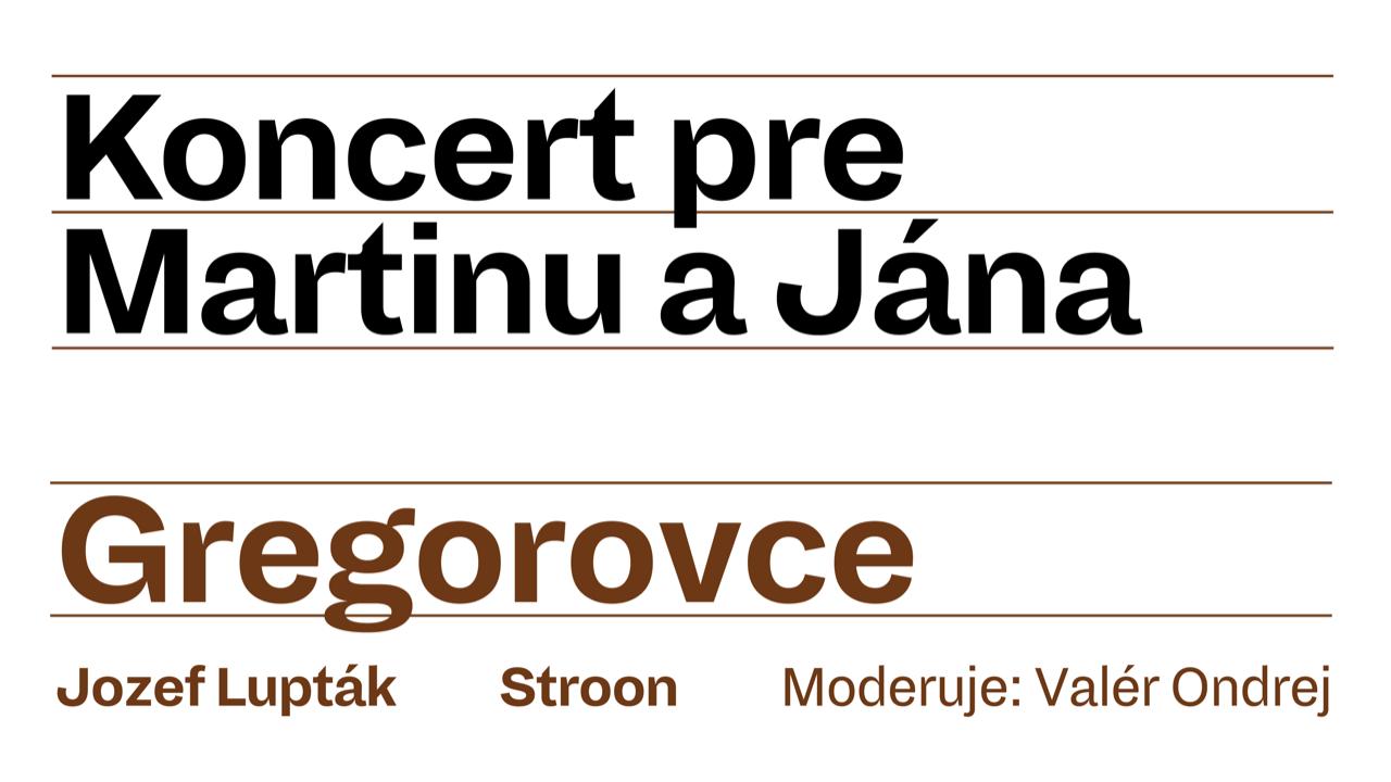 Symbolický online koncert pre Martinu a Jána z Gregoroviec