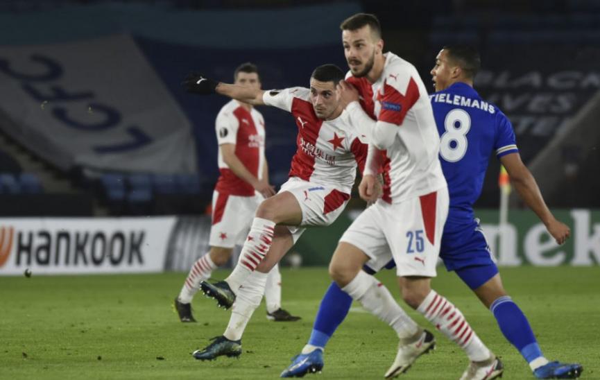 Slavia s Hromadom vyradila Leicester a postúpila do osemfinále