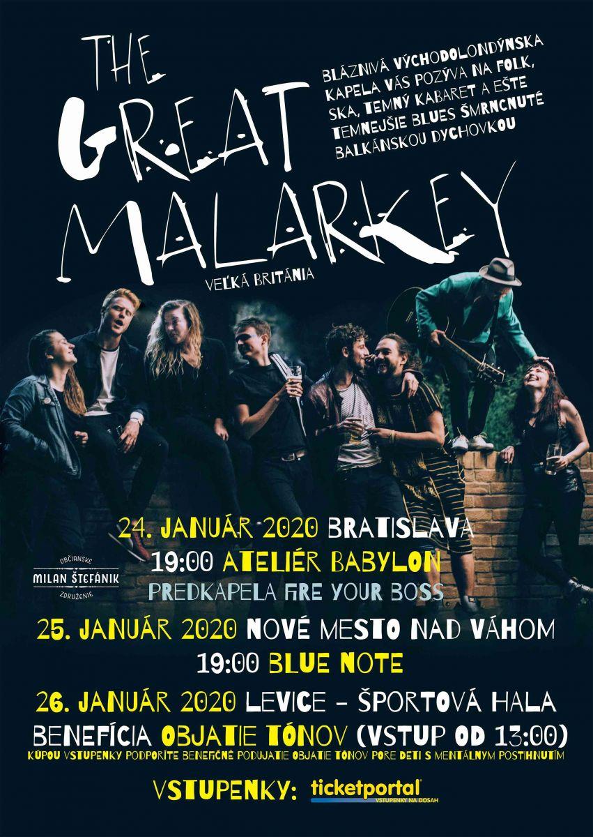 Elektrizujúci The Great Malarkey opäť na Slovensku