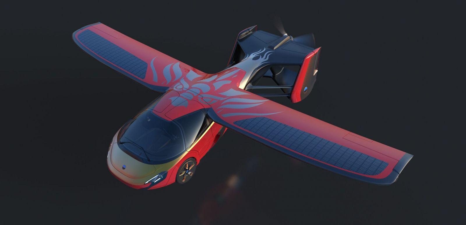 Luxusný AeroMobil s motívom draka
