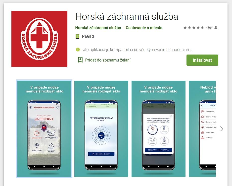 Novú aplikáciu od horských záchranárov ocení každý turista, obsahuje aj jednu unikátnu funkciu