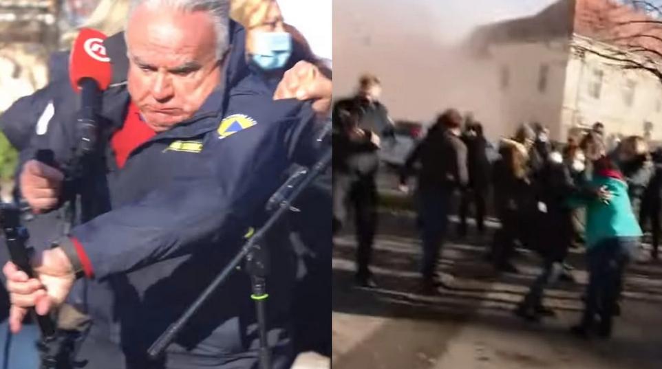 Video: Počas rozhovoru v Chorvátsku sa začala triasť zem a rozpadať sa budovy