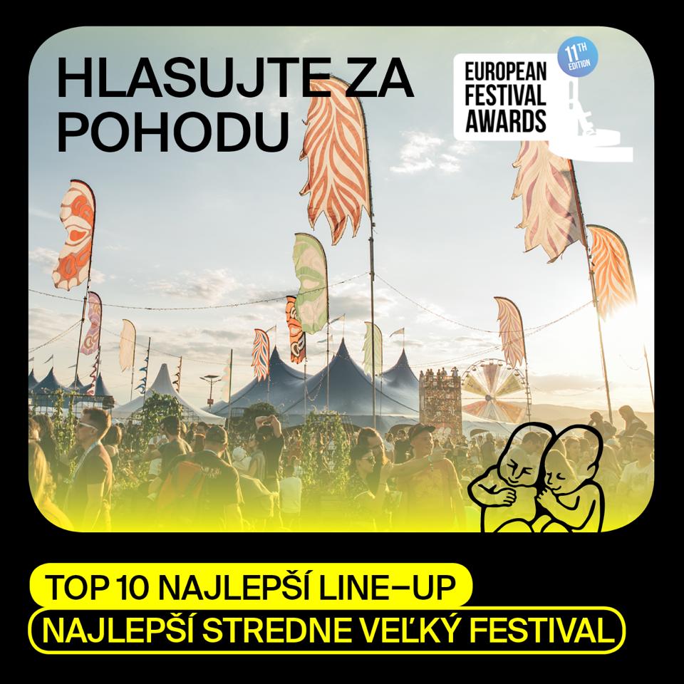 Pohoda medzi top 10 festivalmi s najlepším line-upom na European festival awards