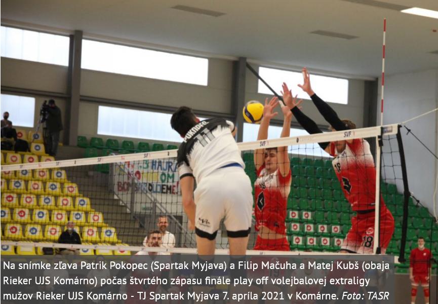 Volejbalisti Rieker UJS Komárno vybojovali svoj premiérový majstrovský titul v extralige