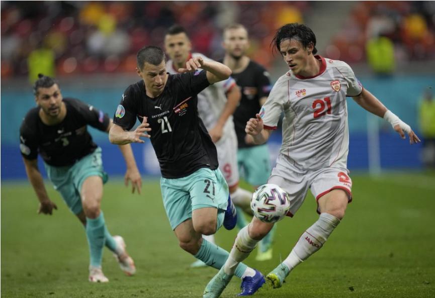 Rakúšania zdolali na ME nováčika Severné Macedónsko o dva góly