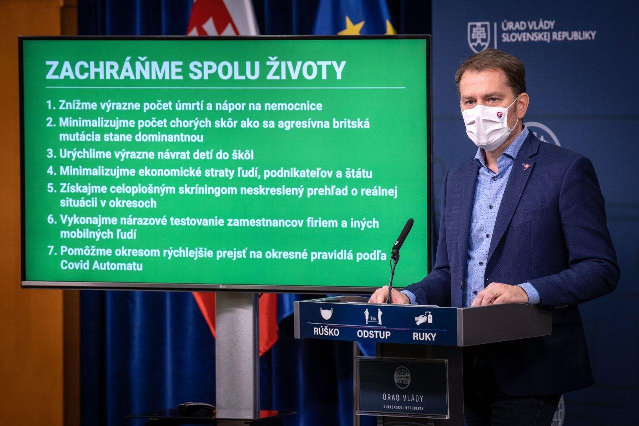 Vláda rozhodla: Lockdown sa spojí s jednorazovým celoslovenským testovaním. Zákaz vychádzania sa predlžuje do 7. februára.