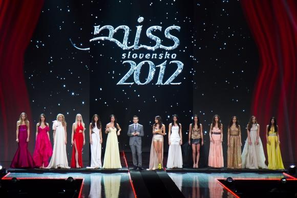 MISS Slovensko 2012 počas finálového večera