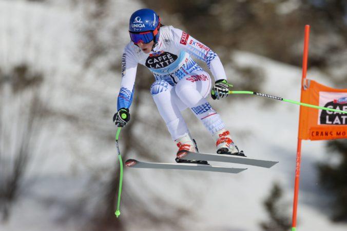 Petra Vlhová má šancu vyhrať kombináciu v Crans Montane, po super G je na druhom mieste (online)