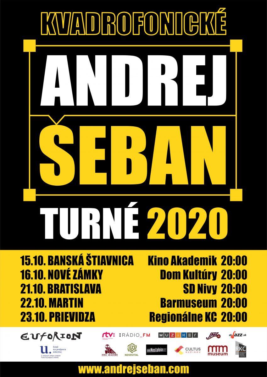 Andrej Šeban vyrazí v októbri KVADROFONICKÉ TURNÉ 2020