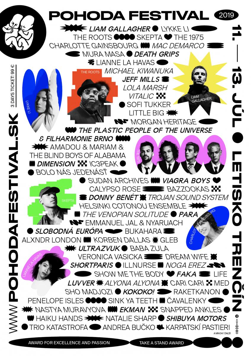Little Big, TOKiMONSTA, Zohra, Čhavorenge, Symfonický orchester Slovenského rozhlasu, + ďalšie Novinky Pohody 2019