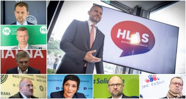 Prieskum Focus: Voľby by vyhral Hlas-SD, nasledujú SaS a Smer-SD