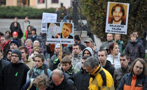 """Protest """"17. november - berieme si späť svoju krajinu"""" v Prešove"""