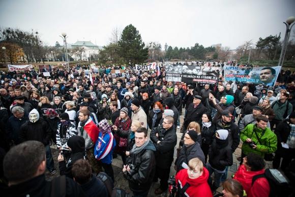 "Protest ""17. november - berieme si späť svoju krajinu"" v Bratislave"