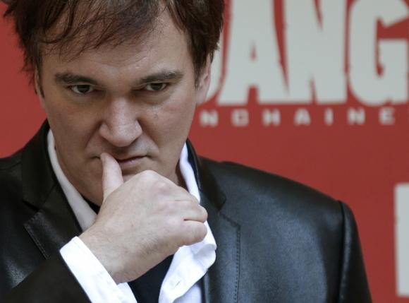 Režisér Quentin Tarantino počas prezentácie filmu Divoký Django v Ríme, 4. januára 2013.