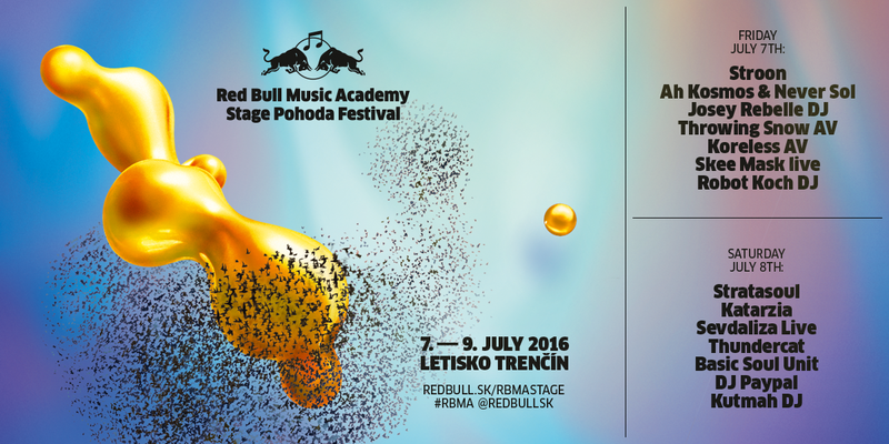 Red Bull Music Academy stage po prvýkrát na Pohode 2016