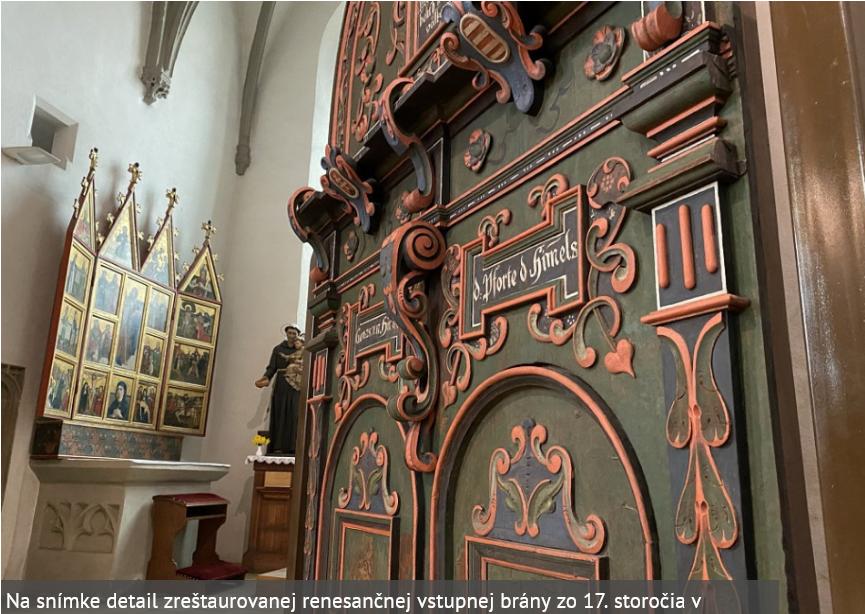 Starobylé brány umiestnili do Baziliky sv. Egídia v Bardejove