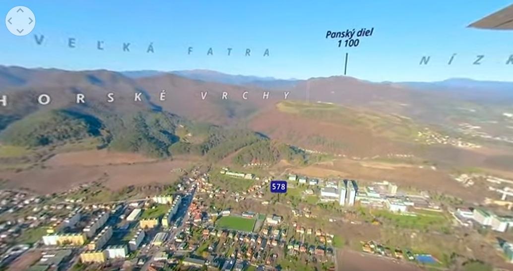 Video: Turisti uvidia z neba stred Slovenska vďaka 360-stupňovej videomape