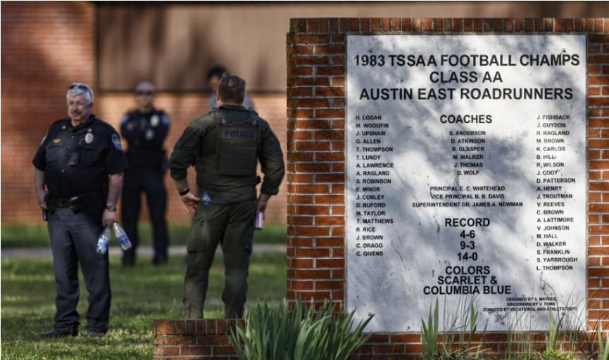 Na strednej škole v Tennessee útočil študent, polícia ho zastrelila