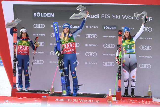 Fantázia: Petra Vlhová tretia v obrovskom slalome v Söldene