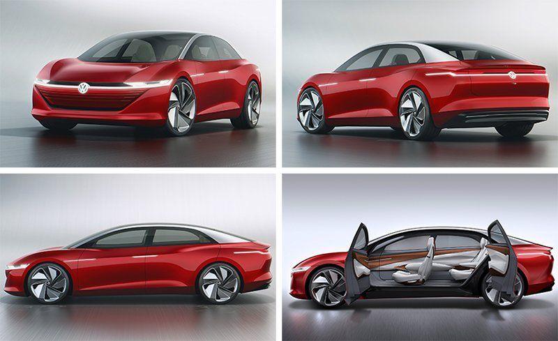 Video: Volkswagen vystavuje v Ženeve na autosalóne model elektrického vozidla I.D. Vizzion