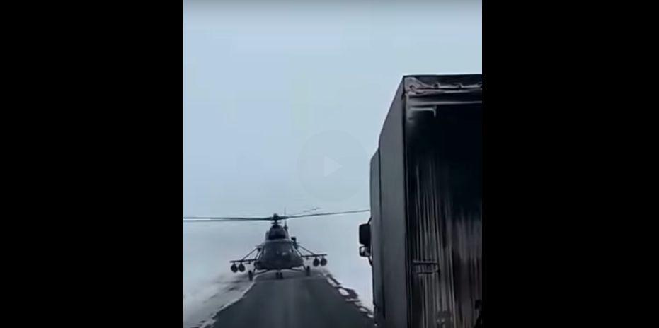 Video: V Rusku pristál vrtuľník na diaľnici, aby sa opýtal na cestu.